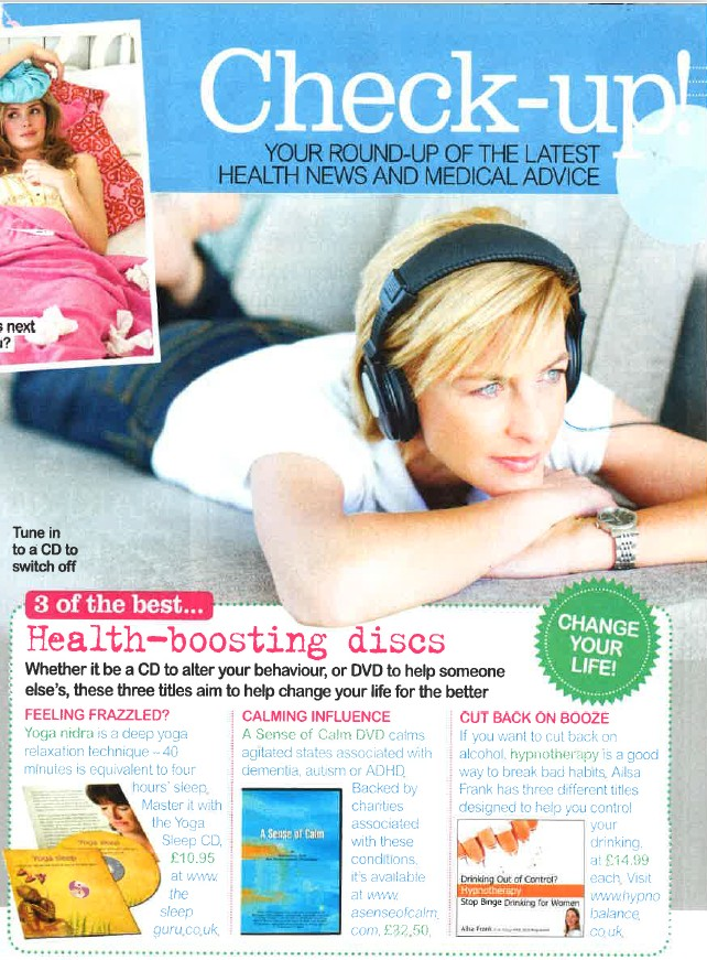 Best Magazine Article featuring Weight loss for women cd & mp3 by hypnotherapist ailsa frank