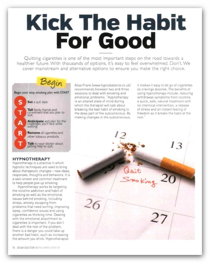 Kick the habit for good, article - Dear Doctor Magazine
