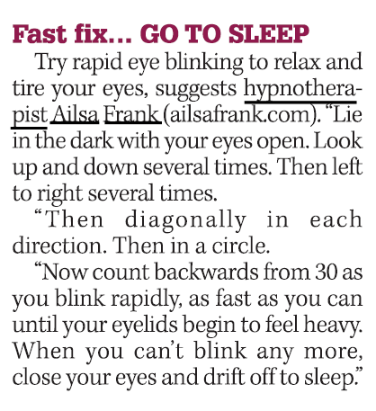 Fast fix...Go to sleep